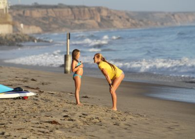 PC Mike Muir coaching Malaya Ring at San Onofre 8 y:o